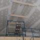 La mezzanine plâtrée et sablée